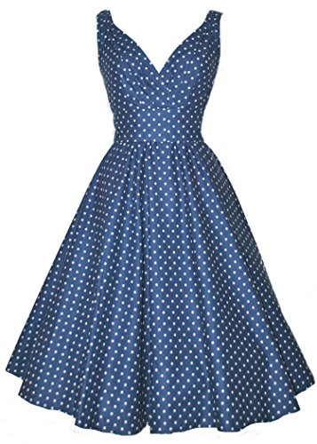 Luouse-1950s-Vintage-Women-Polka-Dot-Swing-Evening-Dress