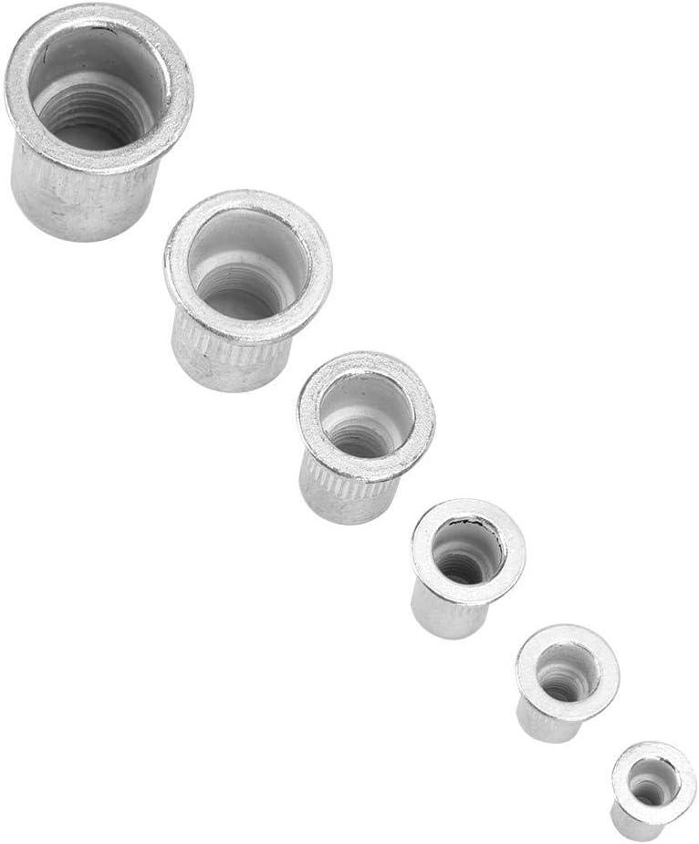 /Écrou /à rivet en aluminium 90 pi/èces /écrou /à rivet en aluminium /à t/ête plate attaches /à insert filet/é pour les industries manufacturi/ères rivet ecrou