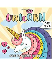 Unicorn Color by Numbers for Kids Ages 4-8: Unicorn Coloring Book for Kids and Educational Activity Books for Kids
