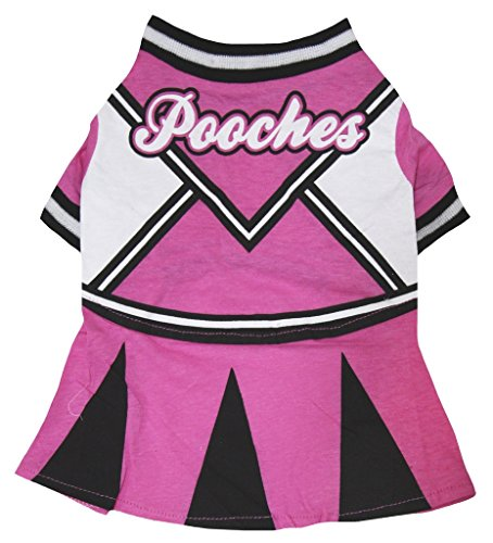 Petitebella Puppy Dog Pet Clothes Hot Pink Cheerleaders Shirt Dress Up Costume (Medium)]()