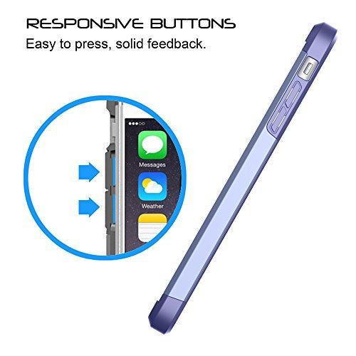 LUVVITT Ultra Armor iPhone 7Plus/iPhone 8plus–Funda con doble capa resistente protección y aire rebote tecnología para Apple Iphone 7Plus (2016)/iPhone 8plus (2017) Violet Blue/ Purple