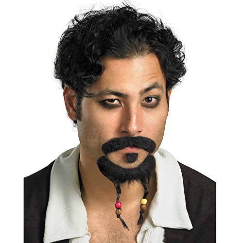 Disguise Men's Disney Pirates of the Caribbean Goatee and Mustache Accessory