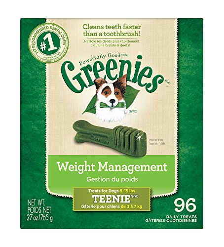 GREENIES Weight Management Treat for Dogs 27 ounce Teenie (96ct)