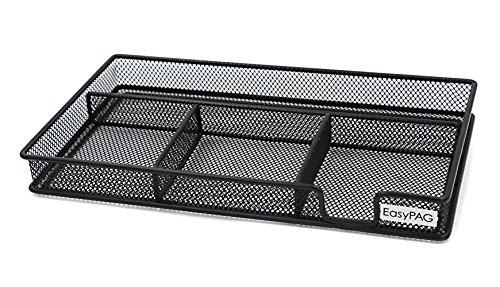 EasyPAG Mesh Collection Desk Accessories Drawer Organizer,11.5 x 6.25 x 1.25 inch Black (Organizer Black Drawer)