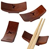 Breakdance Wooden Chopstick Rest With Laser Engraved Design - Traditional Chopstick Rest With Modernized Design - Chopstick Spoon Holder Gifts
