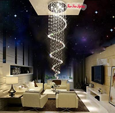 (USA Warehouse) 8 Lights Modern Crystal RainDrop Chandelier Pendant Light Ceiling Lamp Lighting -/PT# HF983-1754389448