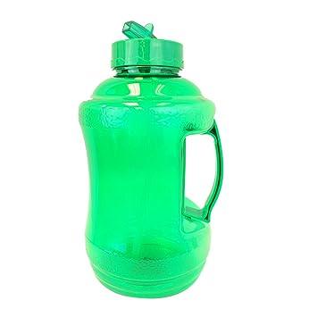1.68 litro sin BPA reutilizable plástico potable botella de agua jarra recipiente con mango de plástico