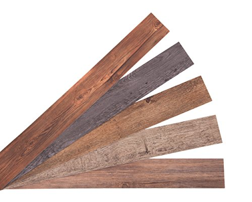 Nance Industries 16632 E-Z Peel and Press Wall Planks 4''X36'' Assorted Wood Colors 20 by Nance Industries (Image #5)