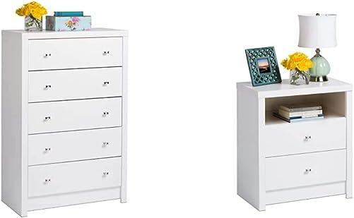 Prepac White Calla 5-Drawer Chest - a good cheap bedroom dresser