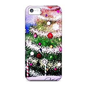 Waterdrop Snap-on Holiday Trees Cases For Iphone 5c