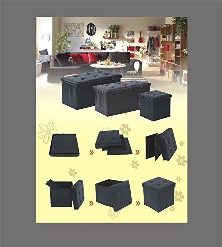 Vencer Classics Foldable Storage Cube/Ottoman,khaki 30''X15''X15''
