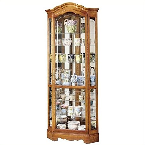 BOWERY HILL Corner Display Curio Cabinet