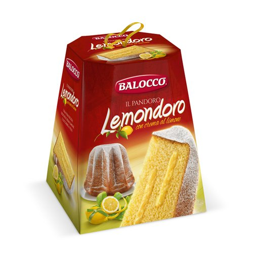 BALOCCO PANDORO Pastel Festivo Italiano Pan Dulce Navideño 800g (Lemondoro)