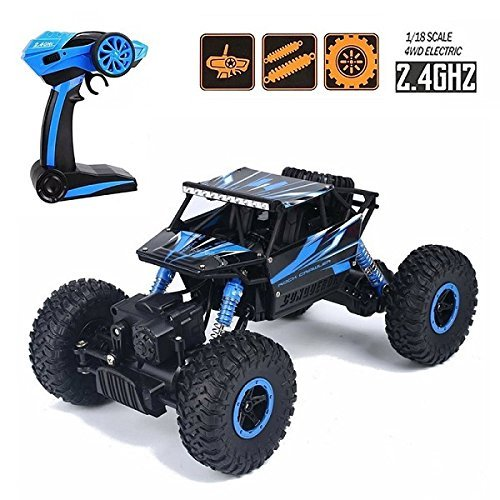 d310fe086 Buy higadget Dirt Drift Waterproof Remote Controlled Rock Crawler RC Monster  Truck, 4 Wheel Drive, 1:18 Scale 2.4 Ghz (Random Colour) Online at Low  Prices ...