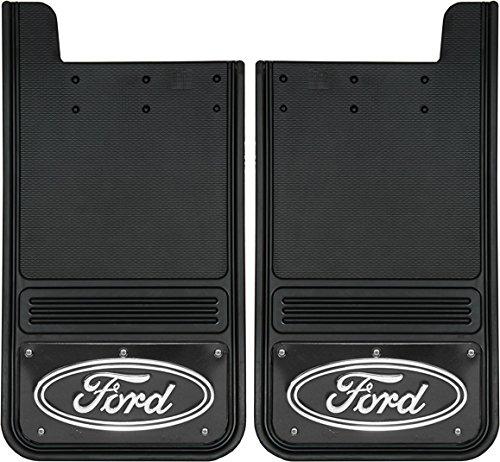 Gatorback Ford Oval Truck Mud Flaps Rear Pair Black Wrap