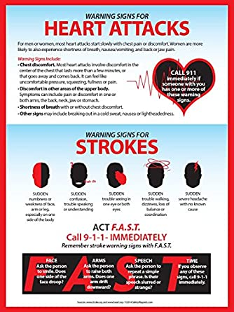 Heart Attack Amp Stroke Warning Signs Workplace Safety