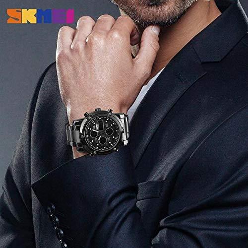51LcZSH4aeL. SS500  - Skmei Mens Watches Top Brand Luxury Quartz Analog LED Digital Analog Watch Men (All Black)