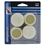 Shepherd Hardware 9122 1-1/8-Inch Rubber Leg Tips, 4-Pack