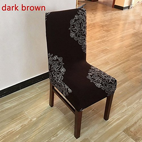 Wall of Dragon Printing Spandex Dining Chair Cover Anti-dirty Washable Short Protector Chair Covers for Restaurant Office