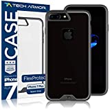 Tech Armor FlexProtect Case for Apple iPhone 7 Plus/iPhone 8 Plus, Flexible Protection, Shock Absorption (Grey/Clear)