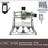 Purewords Mini Diy CNC3018 +500 mw Laser GRBL control, 3Axis pcb pvb Milling machine, Wood Router Engraver CNC 3018
