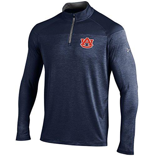 Under Armour NCAA Auburn Tigers Men's Tech 1/4 Zip Tee, Medium, Navy