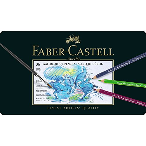 Watercolor Pencil Tin - Faber-Castel FC117536 Albrecht Durer Artist Watercolor Pencils In A Metal Tin (36 Pack), Assorted