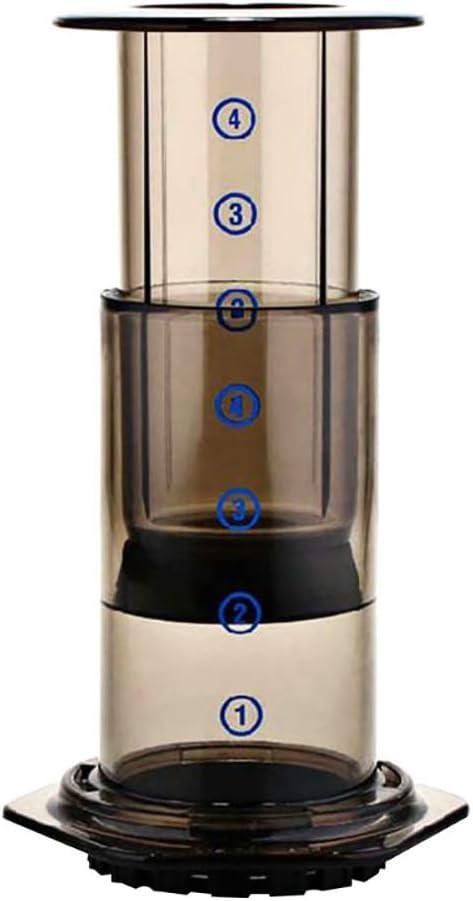 Dean Olla de presión Manual, cafetera Manual, con Filtro de café, cafetera portátil, Almacenamiento de Calor, protección del Medio Ambiente Certificación CE: Amazon.es: Hogar