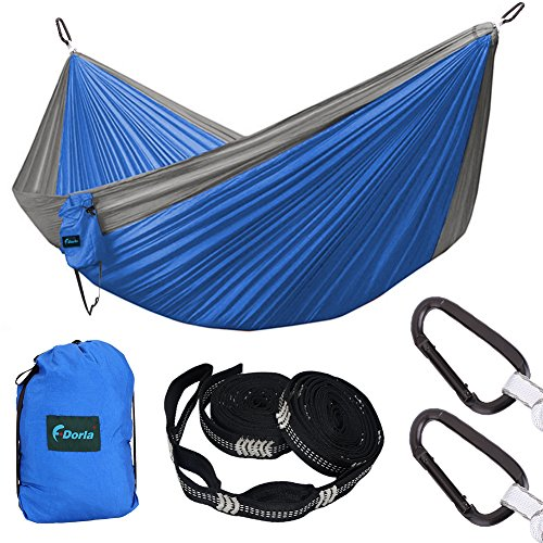 Carabiner Logo (F_Dorla Backpacking Hammock for Camping DoubleNest Hammock with 18 Loops Tree Straps & Strong Carabiners-1000LB High Capacity Parachute Lightweight Hammock(Size 118