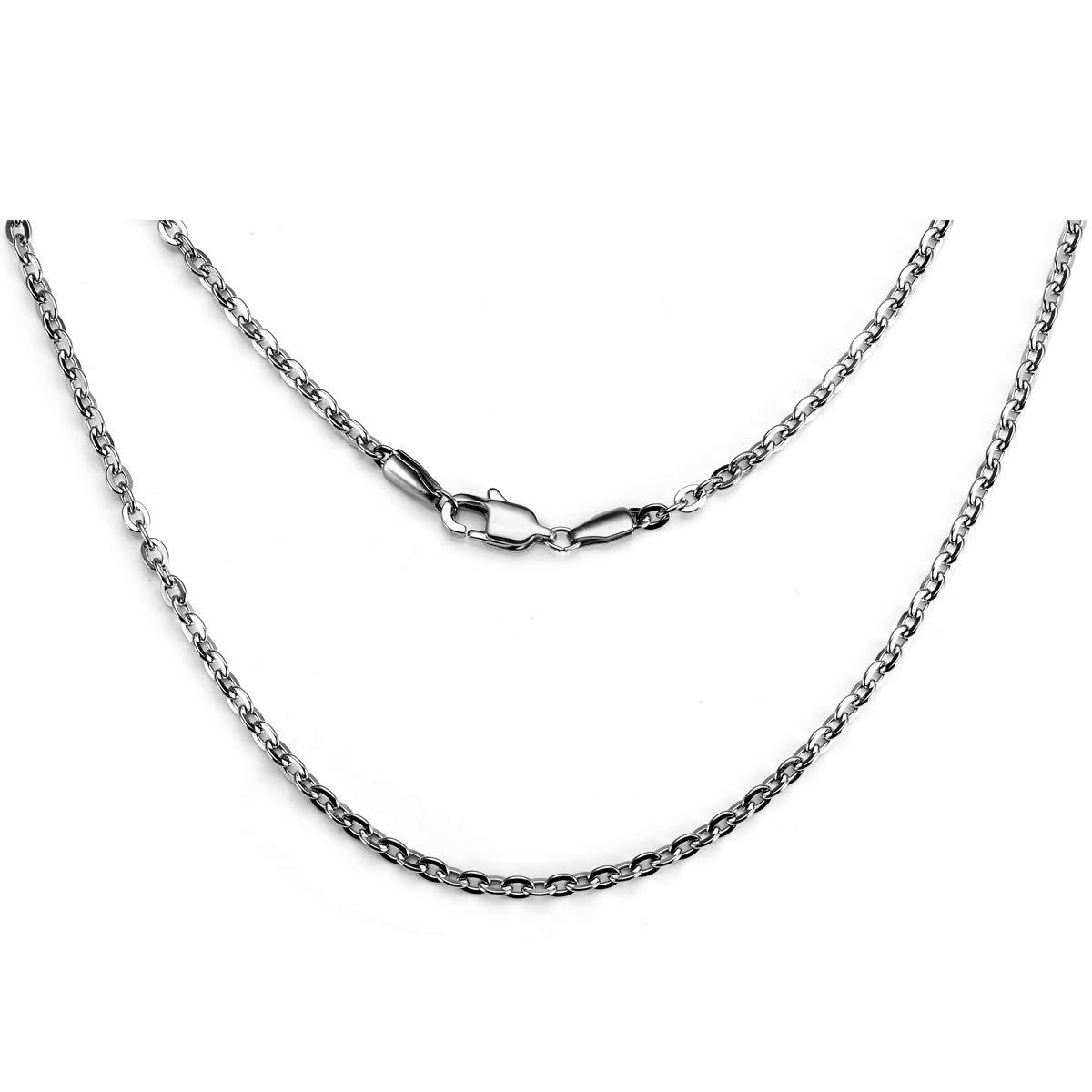 Amazon.com: Bacsn - Collar de cadena de plata para hombre de ...