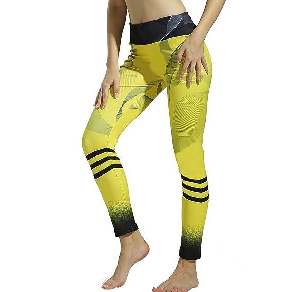 Yusealia Mediados de Cintura Impresi/ón Leggins Fitness Pantalones Elasticidad de Moda Empalmada Pantalones De Correr Leggings El/áSticos De Flaco Fitness Leggins Mujer Pantalones Yoga Mujeres