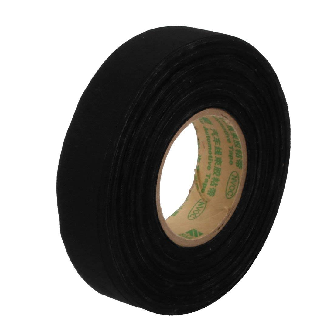 Black 20m Long 19mm Width Insulation Adhesive Cloth Tape Car Wire Harness Tape Miki&Co ZZA-ZY-NET-072011