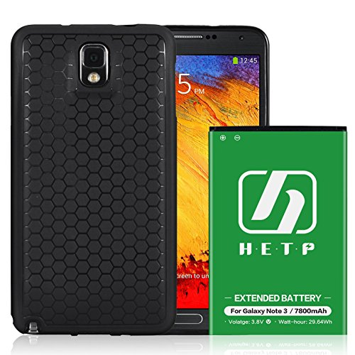 Cheap Charger Cases Galaxy Note 3 III Extended Battery | HETP [7800mAh] Li-Ion Battery Replacement..
