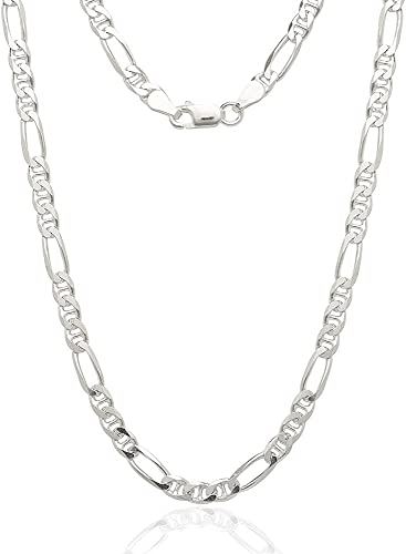 New Solid Sterling Silver Italian Necklace Anchor Chain 925 Mens Womens Jewelry