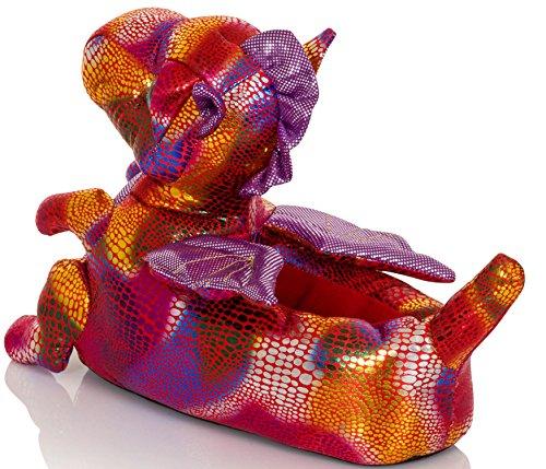 Dannii Matthews - Zapatillas de estar por casa para mujer Pink Dragon