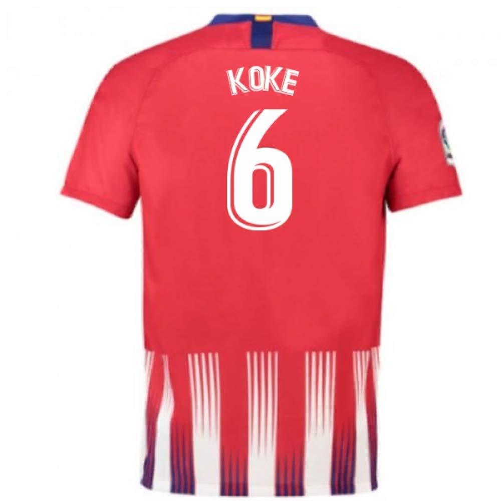 ブランド品専門の 2018-2019 Atletico Madrid Home Nike Football Home Large Shirt B07H9QW2CN (Koke 6) B07H9QW2CN Large 42-44