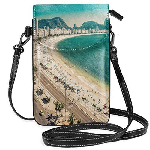 Women Small Cell Phone Purse Crossbody,Copacabana Beach Ipanema Sugar Loaf Mountain In Rio Famous World ()