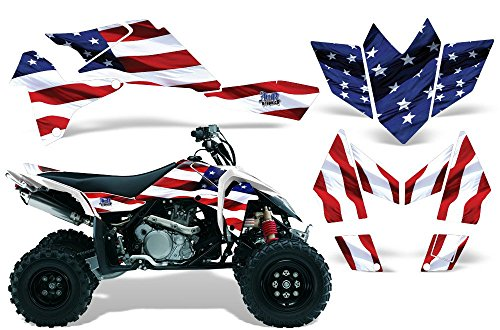2006-2009 Suzuki LTR 450 AMRRACING ATV Graphics Decal Kit:Stars and (One Industries Suzuki Graphics)