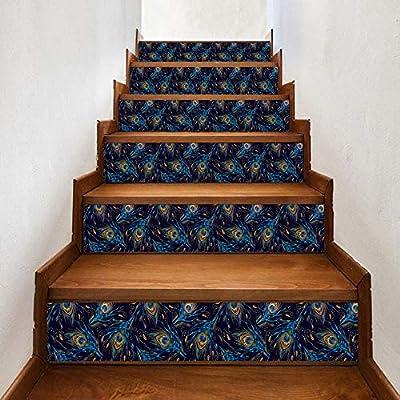 Pegatinas De Escalera 3D Pegatinas De Escalera De Plumas De Pavo Real Pegatinas De Pared Diy Para El Hogar Pegatinas De Pared Decorativas Para Escaleras: Amazon.es: Bricolaje y herramientas