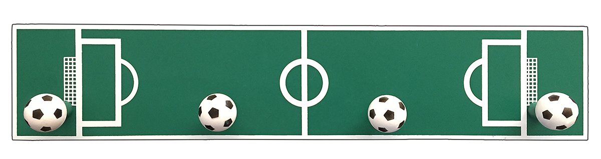 Amazon.com: Headbourne Childrens Soccer Ball Rail/Coat Rack ...