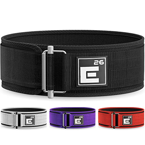 Element 26 Self-Locking Weight Lifting Belt | Premium Weightlifting Belt for Serious Crossfit, Power Lifting, and Olympic Lifting Athletes (Medium, Black)