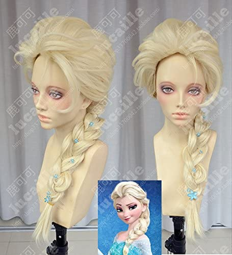 アナと雪の女王 エルサ Elsa ウィッグ 耐熱コスプレウィッグ かつら アニメ コスチューム 大人気 (ウェッグ)