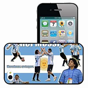 Personalized iPhone 4 4S Cell phone Case/Cover Skin Lionel Messi Olympic 08 FC Barcelona Football Black