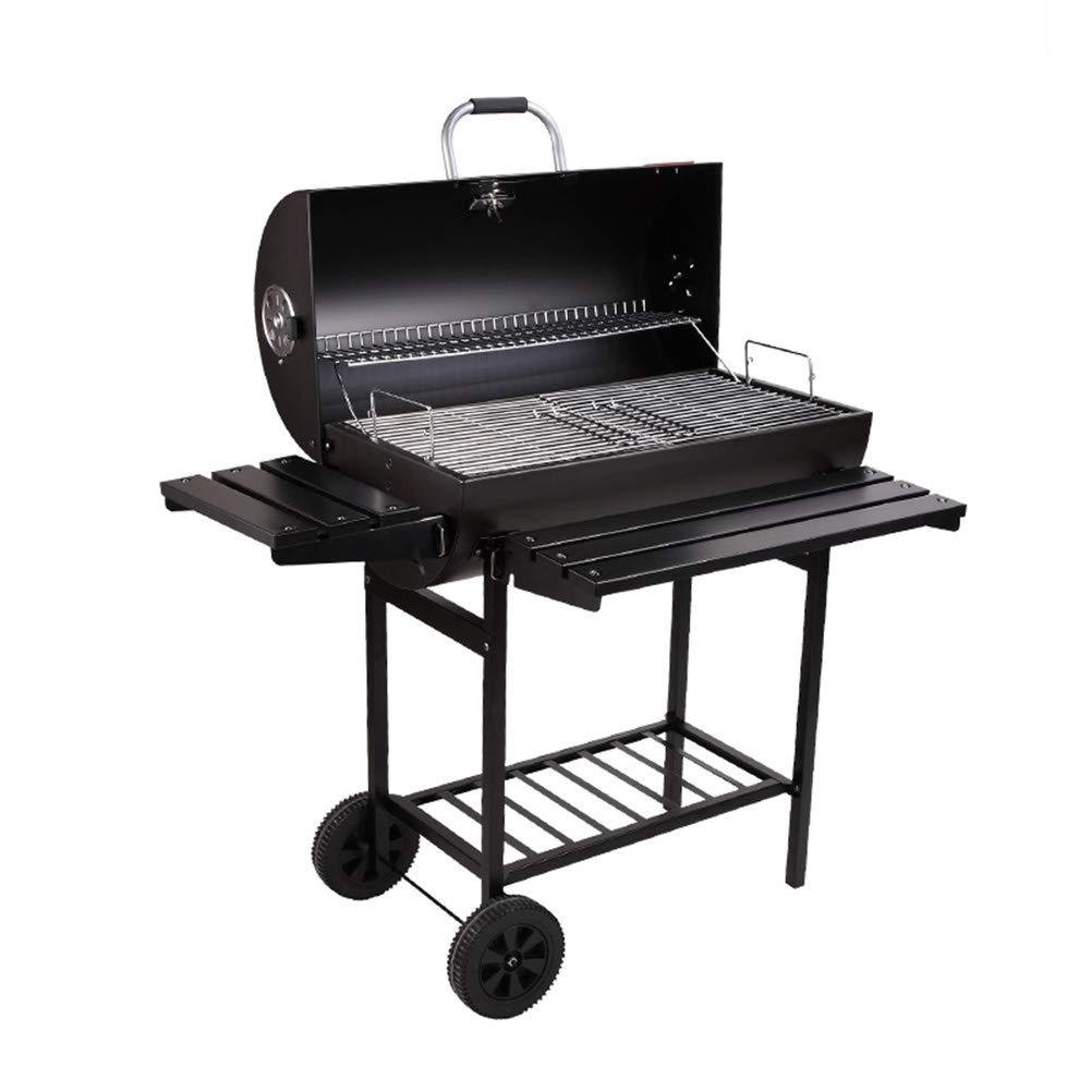 バーベキュー炭火焼きバーベキュー喫煙者デラックス109 x 69 x 100 cm(LxWxH) 一体型温度計+電気グリル 5人以上用の大型グリル、スモークアメリカンバーベキュー キャンプグリル  Without electric grill B07QQPT4QK