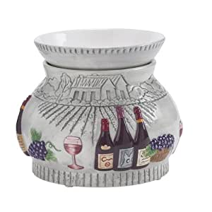 Napa Vineyard Ceramic Stone Electric Tart and Oil Warmer