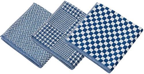 今治タオル ハンカチ メンズ 男性 3枚 セットD 紺色セット ヘリンボン&ブロックワッフル&シュス ふわふわ やわらか ネイビー
