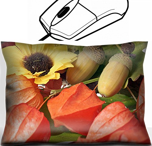 MSD Mouse Wrist Rest Office Decor Wrist Supporter Pillow design 23055116 Chinese lantern and acorns with autumn leaves