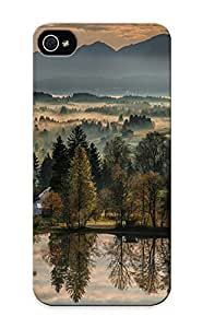 Hot New Bavaria Germany Autumn River Morning Dawn Reflection Trees Mountains Landscape Case Cover Case For HTC One M7 Cover With Perfect Design