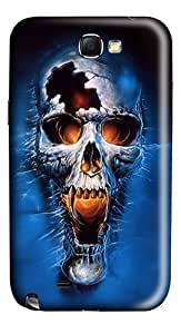 Blue Skull Art Polycarbonate Case Cover for Samsung Galaxy Note 2 / Note II / N7100