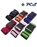 #2: DEEBF 6 PCS Luggage packing belt,Travelling bag,Suitcase Belts,Adjustable Luggage Strap,Suitcase Belt Adjustable